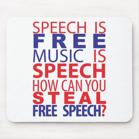 Speech Is Free Mousepad