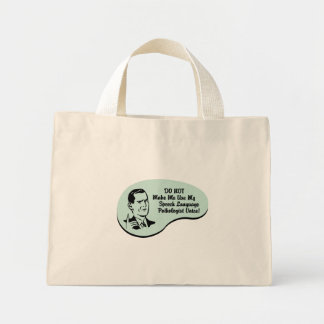 Speech-Language Pathologist Voice Canvas Bag