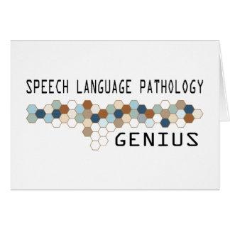 Speech Language Pathology Genius Greeting Card