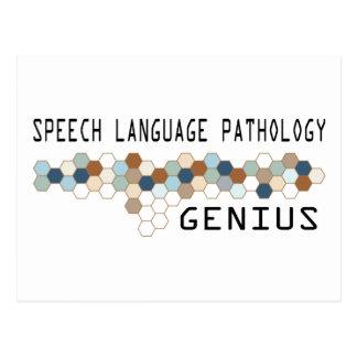 Speech Language Pathology Genius Postcard