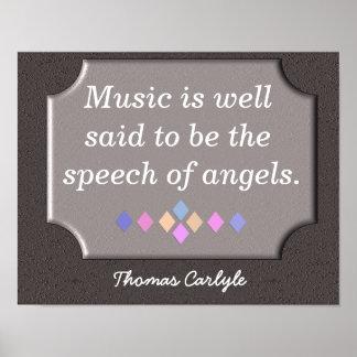 Speech of Angels - art print -Thomas Carlyle print