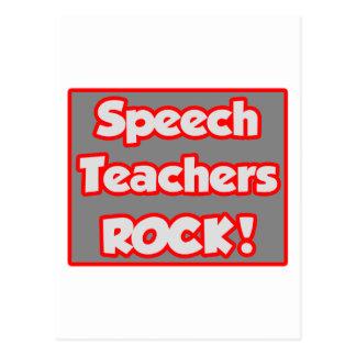 Speech Teachers Rock! Postcard