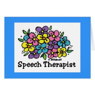 Speech Therapist Blooms1 Card
