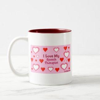 Speech Therapist Hearts Mug