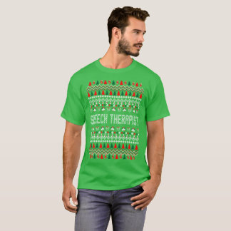 Speech Therapist Ugly Christmas Sweater Tshirt
