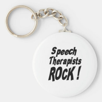 Speech Therapists Rock Keychain
