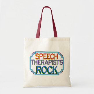 Speech Therapists Rock Tote Bag