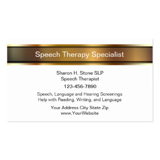 Speech Therapy Business Cards