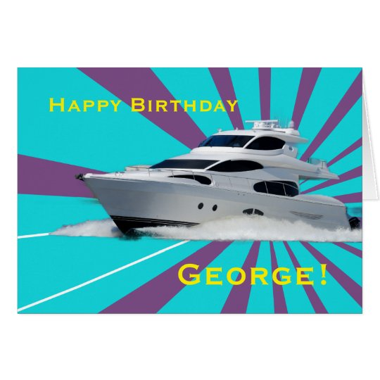 Speed Boat Card