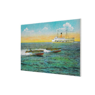 Speed Boating in Catalina Island, California Canvas Print
