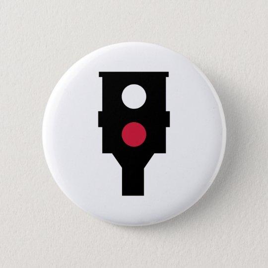Speed camera 6 cm round badge