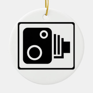 Speed Camera Symbol Christmas Ornament