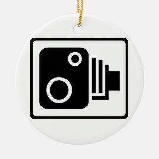 Speed Camera Symbol Christmas Ornament