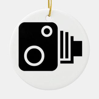 Speed Camera Symbol Round Ceramic Decoration