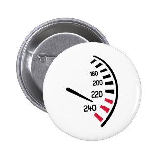 Speed car pinback button