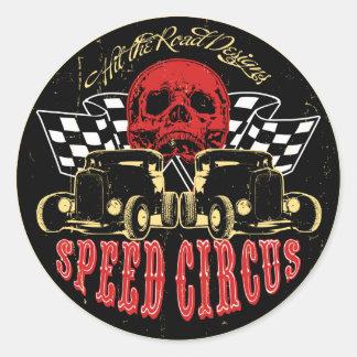 Speed Circus Classic Round Sticker