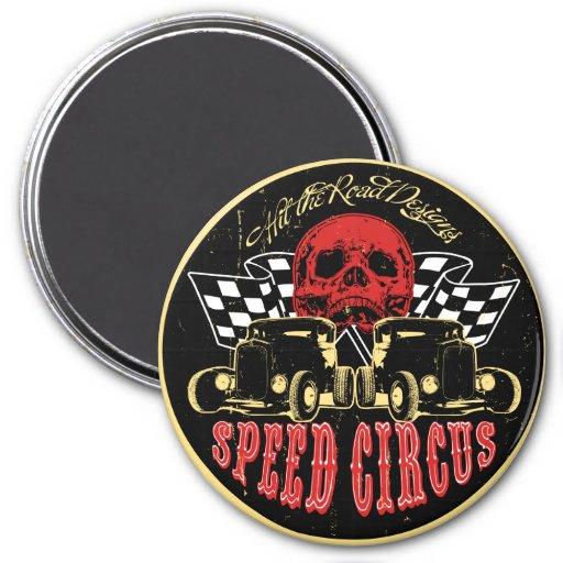Speed Circus Fridge Magnet
