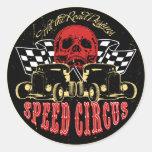 Speed Circus Round Sticker