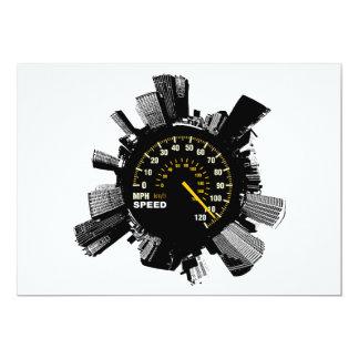 Speed City 1 13 Cm X 18 Cm Invitation Card
