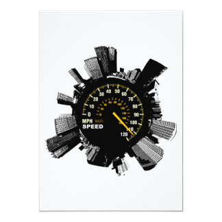 Speed City 1 13 Cm X 18 Cm Invitation Card