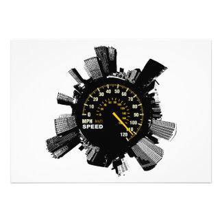 Speed City 1 Custom Invitations