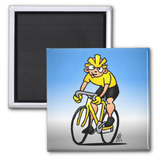 Speed Cyclist - Cycling Square Magnet