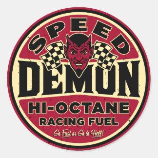 Speed Demon 003A Classic Round Sticker