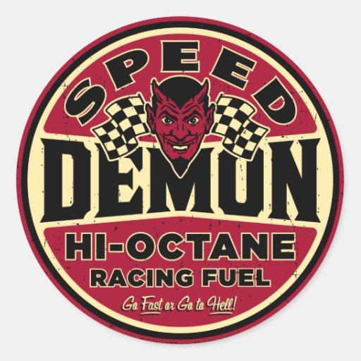 Speed Demon 003A Round Sticker