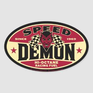 Speed Demon 003B Oval Sticker