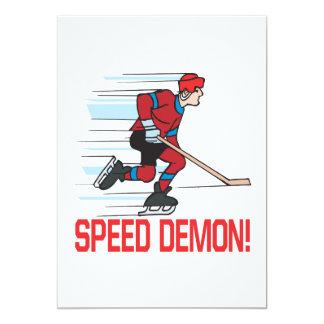 Speed Demon 13 Cm X 18 Cm Invitation Card