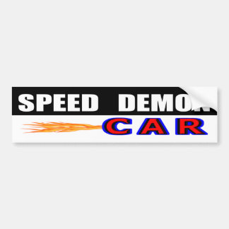 Speed Demon Bumper Sticker