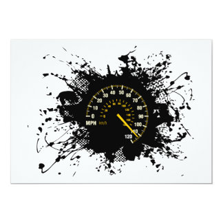 Speed Emblem Urban Style 1 13 Cm X 18 Cm Invitation Card
