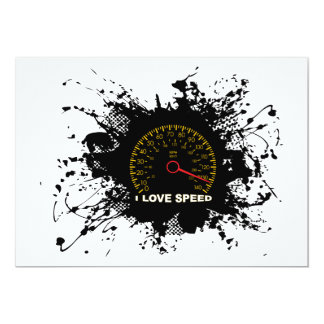 Speed Emblem Urban Style 3 13 Cm X 18 Cm Invitation Card