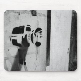 speed gun camera graffiti art mousepad