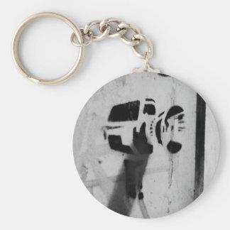 speed gun camera stencil graffiti art key-chain key ring