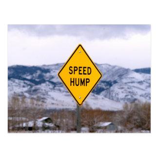 Speed Hump Postcard