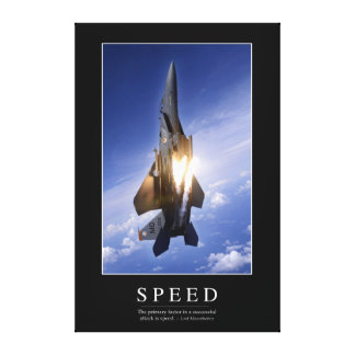 Speed: Inspirational Quote 1 Canvas Print