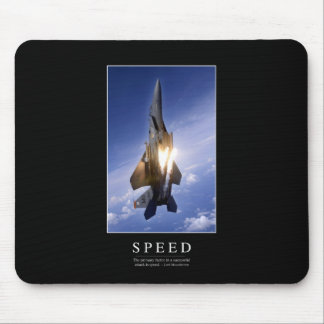 Speed: Inspirational Quote 1 Mouse Mat