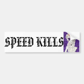 Speed Kills Skeleton Bumper Sticker