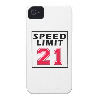 Speed limit 21 birthday designs iPhone 4 case