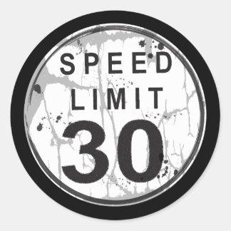 Speed Limit 30 MPH Grungy Sticker
