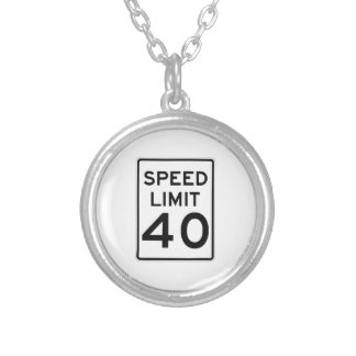 Speed Limit 40 MPH Sign Jewelry