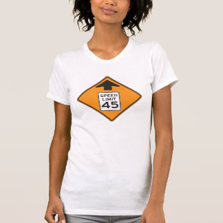 Speed Limit 45 Road Sign Womens T-Shirt