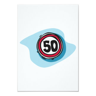 Speed Limit 50 Invitations