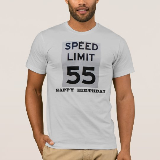 Speed Limit 55 Birthday-Men's T-Shirt