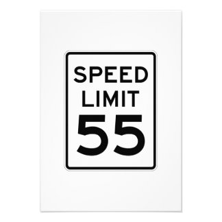 Speed Limit 55 MPH Sign Custom Announcement