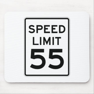 Speed Limit 55 MPH Sign Mouse Mat