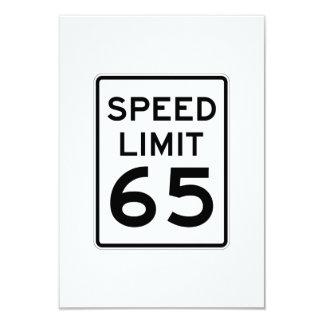 Speed Limit 65 MPH Sign 9 Cm X 13 Cm Invitation Card
