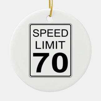 Speed Limit Round Ceramic Decoration