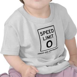 Speed Limit Zero 0 High On Entropy Sign Humor Tee Shirts